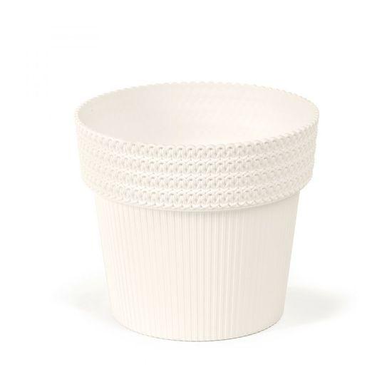 Kraftika Plastový květináč pola jumper 160 mm, krémový