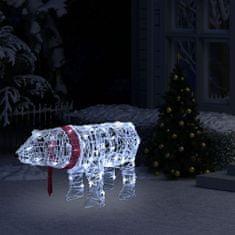 shumee Božična svetlobna dekoracija medved 45 LED lučk 71x20x38 cm