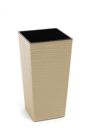 Kraftika Műanyag virágcserép finezia dent 300x300 mm, cappuccino