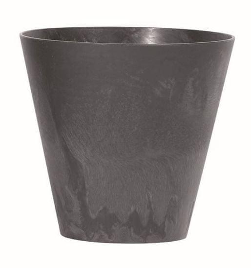 Kraftika Květináč tubus effect 25 cm, antracit