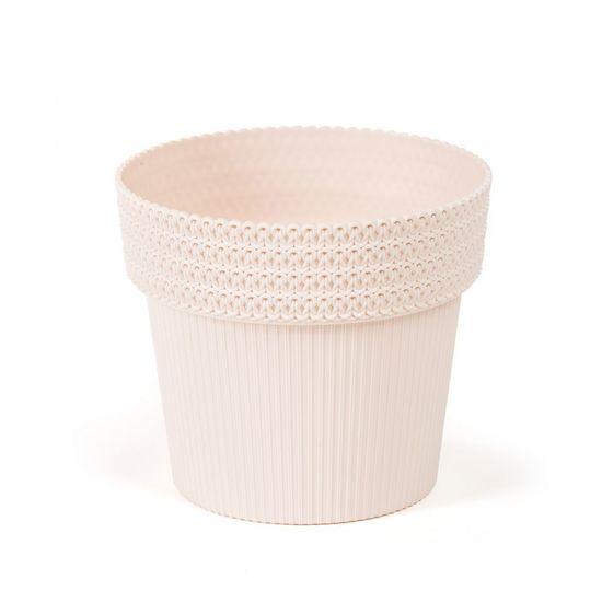 Kraftika Plastový květináč pola jumper 130 mm, světle béžový