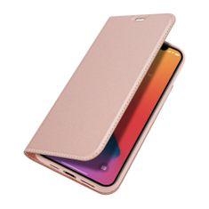Dux Ducis Skin Pro knížkové kožené pouzdro na iPhone 12 Pro Max, růžové