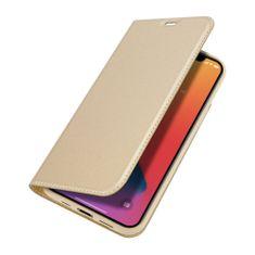 Dux Ducis Skin Pro knížkové kožené pouzdro na iPhone 12 / 12 Pro, zlaté