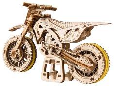 Wooden city Motocyklový kríž 3D mechanické puzzle