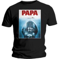 Tričko Papa Jaws unisex černé