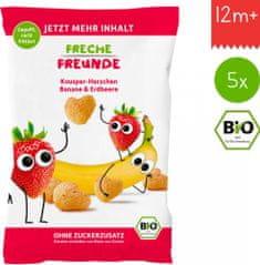 Freche Freunde BIO Křupky Kukuřice, banán a jahoda (5x30g)