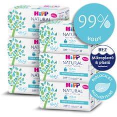 HiPP Babysanft Čistiace vlhčené obrúsky Aqua Natural 6 x 2 x 60 ks