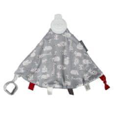 Cheeky Chompers Comfort Chew luksuzna dekica s igračkom, safari