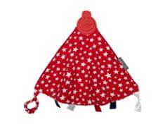 Cheeky Chompers Comfort Chew luksuzna dekica s igračkom, crvene zvijezde