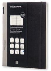 Moleskine pro bilježnica, XL, crna, meki uvez
