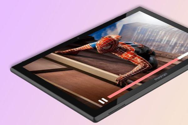 prestigio muze 4231 lte funkce telefonování Bluetooth wifi microUSB 16gb vnitřní paměť 2gb ram mikrofon reproduktor 3,5mm jack 5000mah baterie stylový design výkonný 4jádrový procesor android 10 operační systém