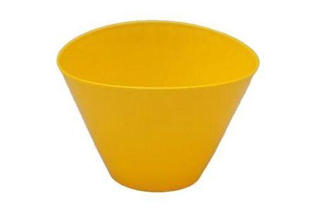 Kraftika Plastikowa doniczka elipsa, żółta