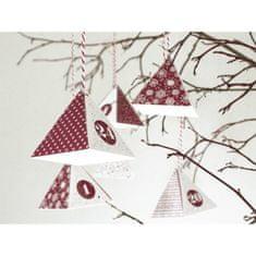 Kraftika Adventní kalendář krabičky červeno bílý (24ks),