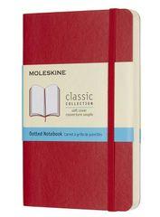 Moleskine bilježnica, mala, s točkicama, crvena, meki uvez