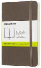 Moleskine Class bilježnica, mala bez crta, smeđa, meki uvez