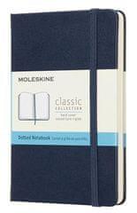 Moleskine bilježnica, mala, s točkama, plava