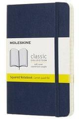 Moleskine bilježnica, mala, karo, plava, mekani uvez