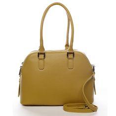 Delami Vera Pelle Dámska kožená kabelka s dlhým uchom Nicole, žltá