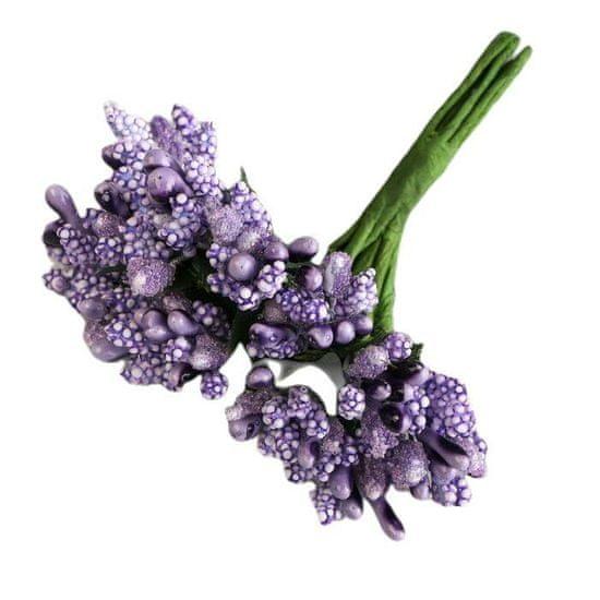 Kraftika Kytice dekorativních květin 2cm, fialová