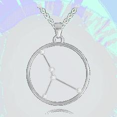 MINET Stříbrný náhrdelník MINET Stars znamení RAK Czech Crystal