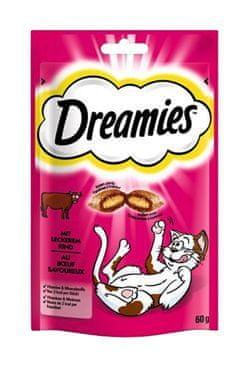 Mars Dreamies kočka pochoutka s hovězím 60g