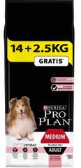 Purina PRO PLAN Dog Adult Medium Sensitive Skin 14+2,5 kg zdarma