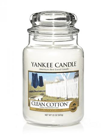 Yankee Candle CLEAN COTTON Duża świeca 623 g
