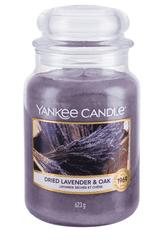 Yankee Candle Yankee gyertya SZÁRÍTOTT LEVANDA & Tölgyfa Nagy gyertya 623 g