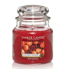 Yankee Candle Yankee gyertya MANDARIN CRANBERRY Közepes gyertya 411 g