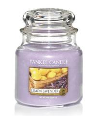 Yankee Candle LEMON LAVENDER Střední svíčka 411 g
