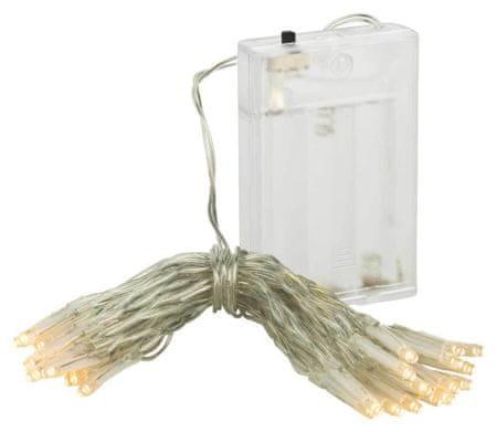 Linder Exclusiv LAMPKI Świąteczny łańcuch 50 lampek LED ciepła biel