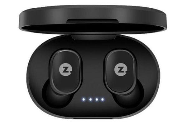 malá prenosná lacná slúchadlá intezze zero basic bez silných basov dobre sedí špuntová 3h výdrž tlačidla na slúchadlách Bluetooth technológie handsfree