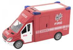 Teddies Auto hasiči plast 28cm