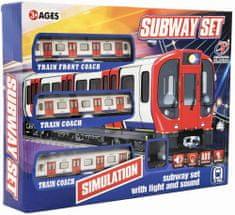Teddies Metro/vlak/tramvaj plast s kolejemi