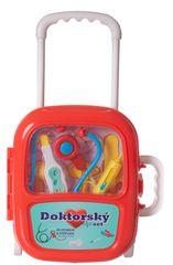 Teddies Sada doktor/lekár plast v plastovom kufríku na kolieskách