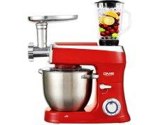 DMS Germany KMFB-2200R kuchyňský robot 3v1 2200 W / kovové převody / 9l / červená