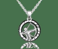 MINET Stříbrný náhrdelník MINET Zodiac znamení STŘELEC