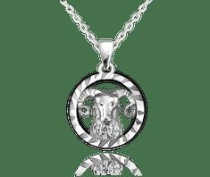 MINET Stříbrný náhrdelník MINET Zodiac znamení BERAN