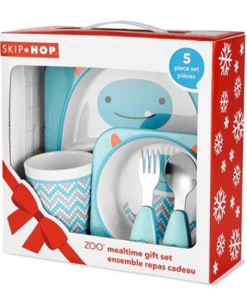 Skip hop Zoo étkészlet - ajándék szett melamin Winter Yeti 6 hó +