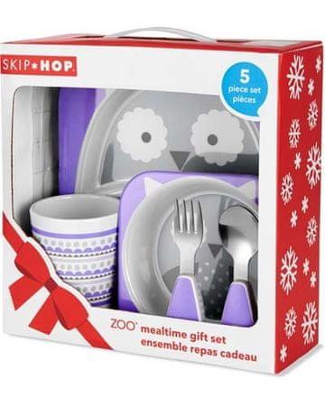 Skip hop Zoo étkezőkészlet - ajándék szett melamin Winter bagoly 6 hó +
