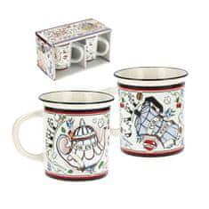 """Natives Vintage Šálky káva čaj L sada 2ks """"For Ever"""" D 8 x H.9 cm - 25cl, porcelán, 701280"""