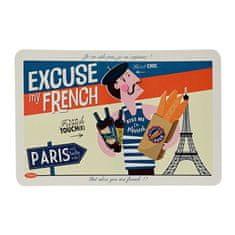 "Natives Vintage Prestieranie ""Excuse my French"" 43,5 x 28,5 cm, pvc, 800740"