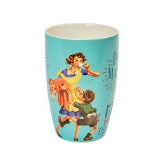 """Natives Vintage Šálka káva čaj XL """"Maman débordée"""" D 8,5 x H.13 cm - 450ml, porcelán, 801980"""