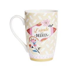 "Natives Vintage Šálka káva čaj XL ""L'Escale aux Délices"" D 8,5 x H.13 cm - 450ml, porcelán, 702200"