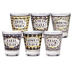 "Natives Vintage Šálky kávové Espresso sada 6ks ""Cinéfiltres"" D 5,8 x H 7 cm - 8cl, porcelán, 701660"