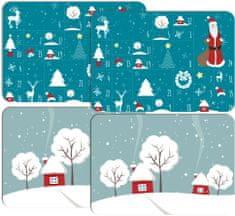 RoomDecor.eu Vianočné prestieranie-003, 4 Ks (mix)