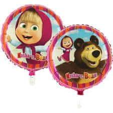 """GoDan Fóliový balón 18"""" Máša a medveď - ružová"""