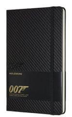 Moleskine Bilježnica Jamesa Bonda, velika, crte, karbonska, ograničene količine