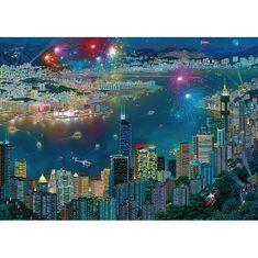 Schmidt Puzzle 1000 Fireworks over Hong Kong