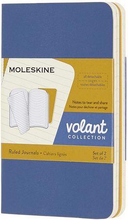 Moleskine Bilježnica Volant, crte, XS, 2 komada, plava i žuta